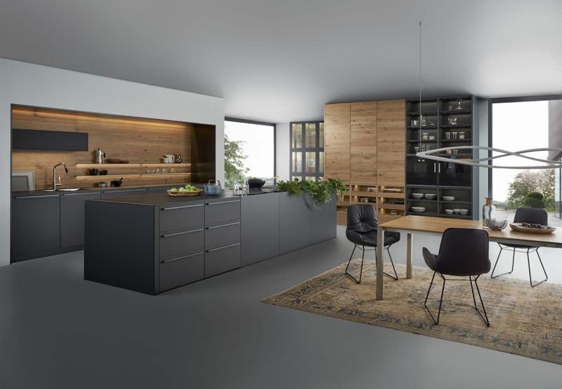 Темные кухни 2018 3