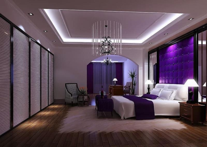 Акцентная фиолетовая стена 2