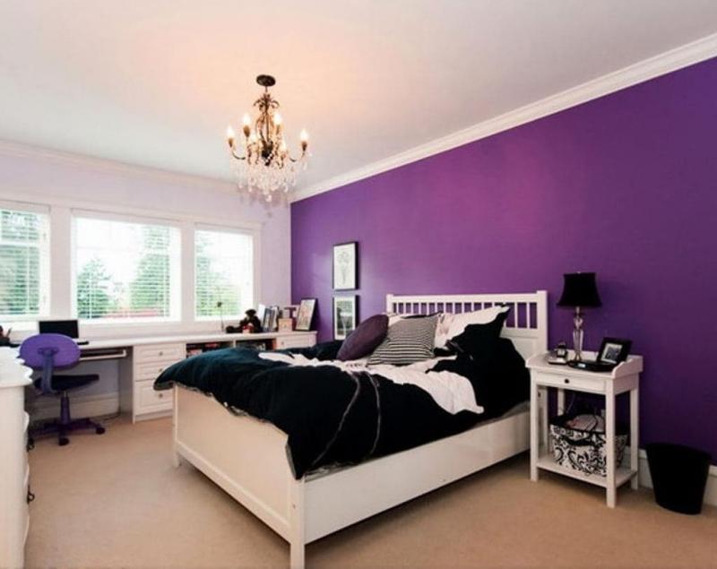 Акцентная фиолетовая стена 4