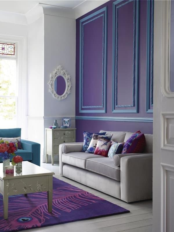 Фиолетовый акцент в интерьере 8