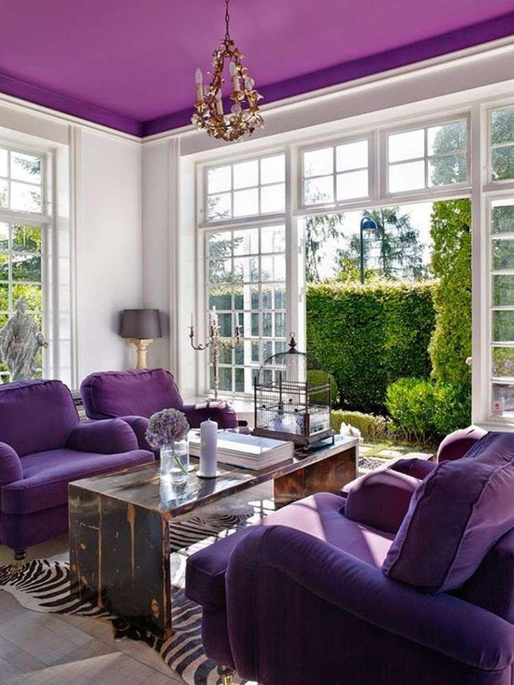 Фиолетовый потолок 4
