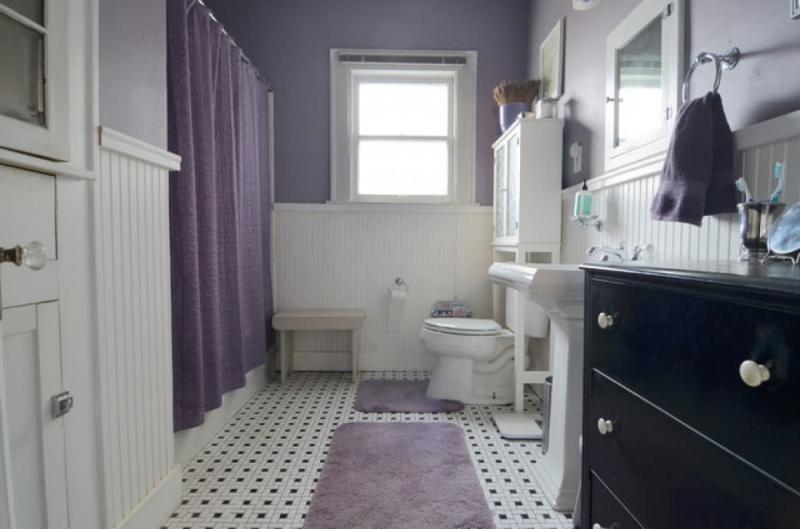 Нейтральный фиолетовый оттенок в интерьере 2