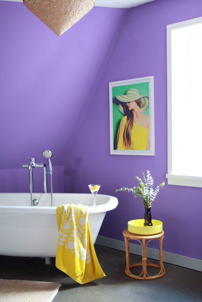 Оттенок Ultra Violet в интерьере 8