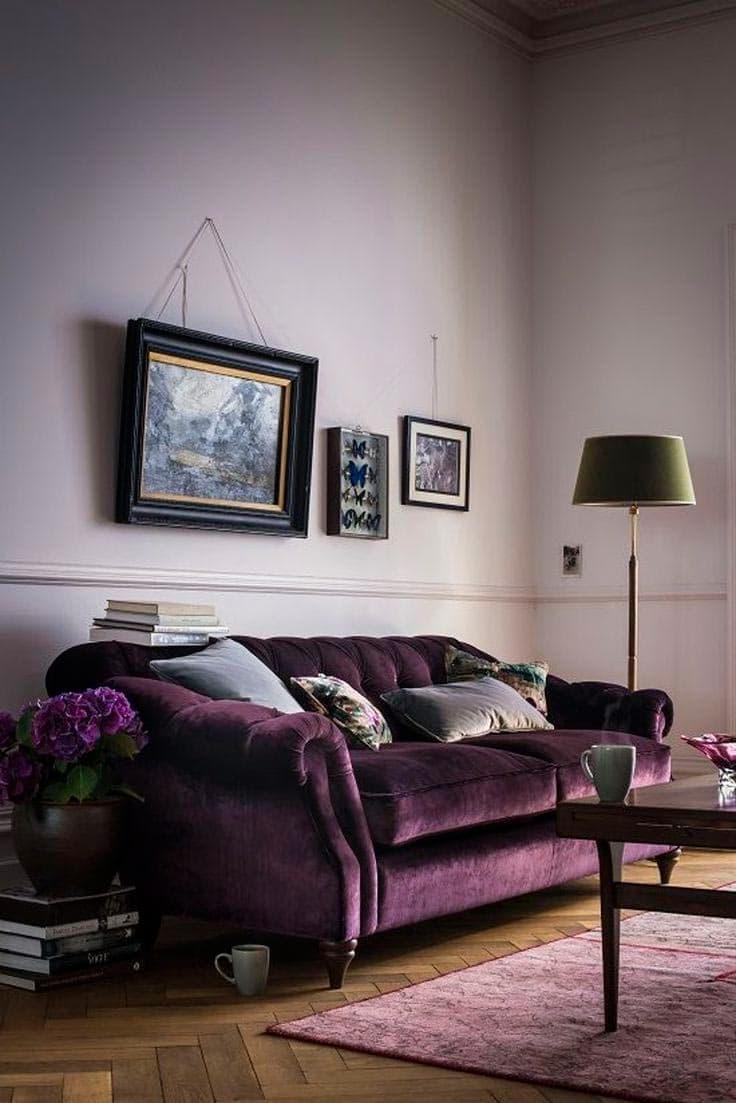 Оттенок Глубокий фиолетовый в интерьере 2