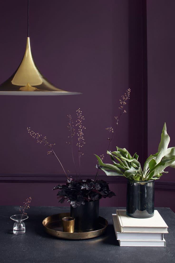 Оттенок Глубокий фиолетовый в интерьере 3