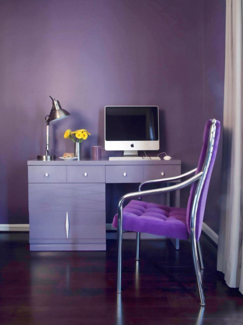 Оттенок Глубокий фиолетовый в интерьере 4