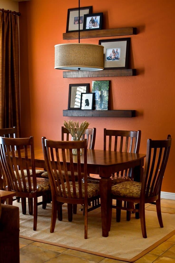 Оттенок Оранжевая папайа в интерьере 4