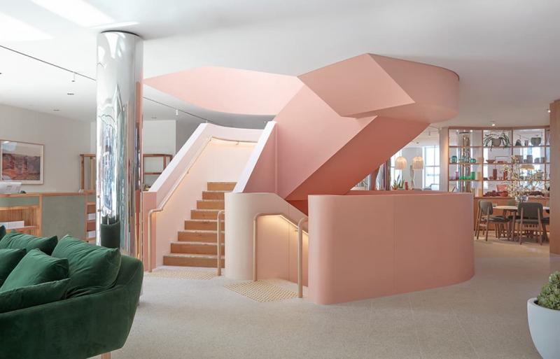 Оттенок Тысячелетний розовый в интерьере 9