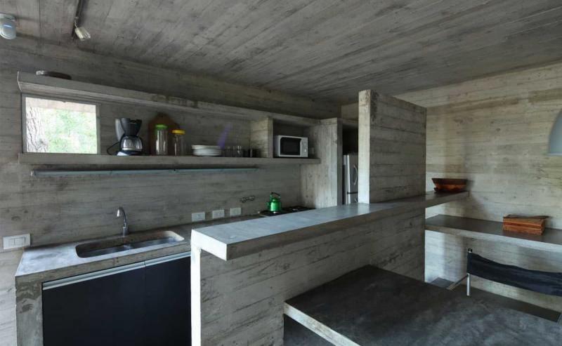 Бетон в интерьере кухни 1