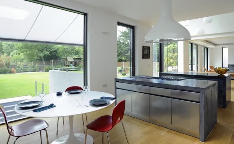 Бетон в интерьере кухни 4