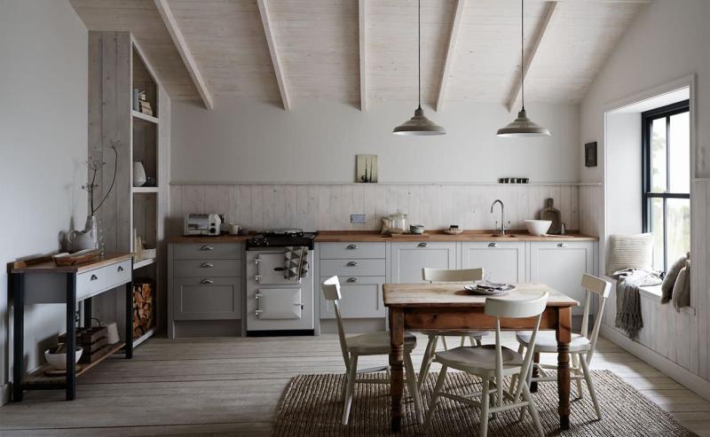 Кухня без верхней линии шкафов 6