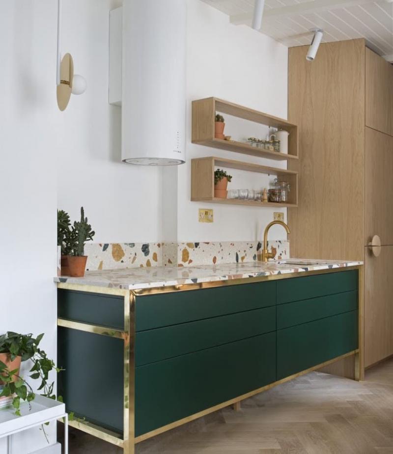 Венецианский тераццо в интерьере кухни 2018 1