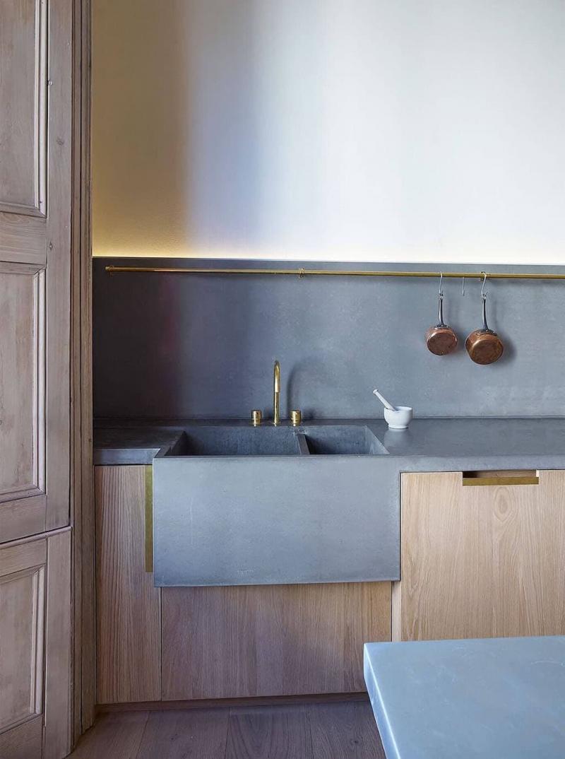 Встроенная раковина для посуды 2