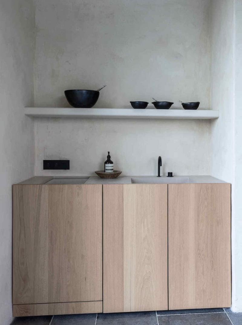 Встроенная раковина для посуды 3