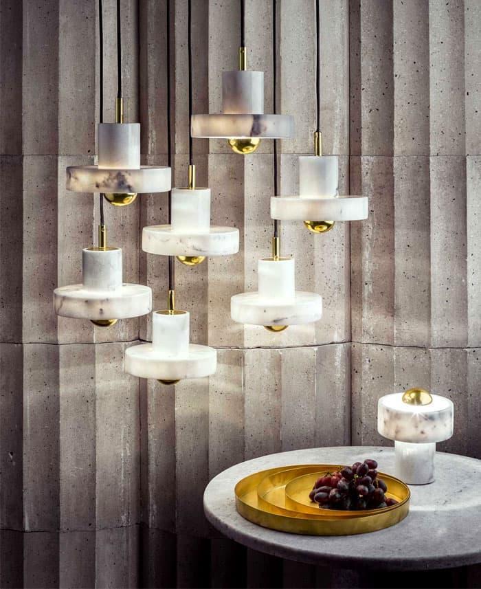Художественные светильники длля гостиной 4