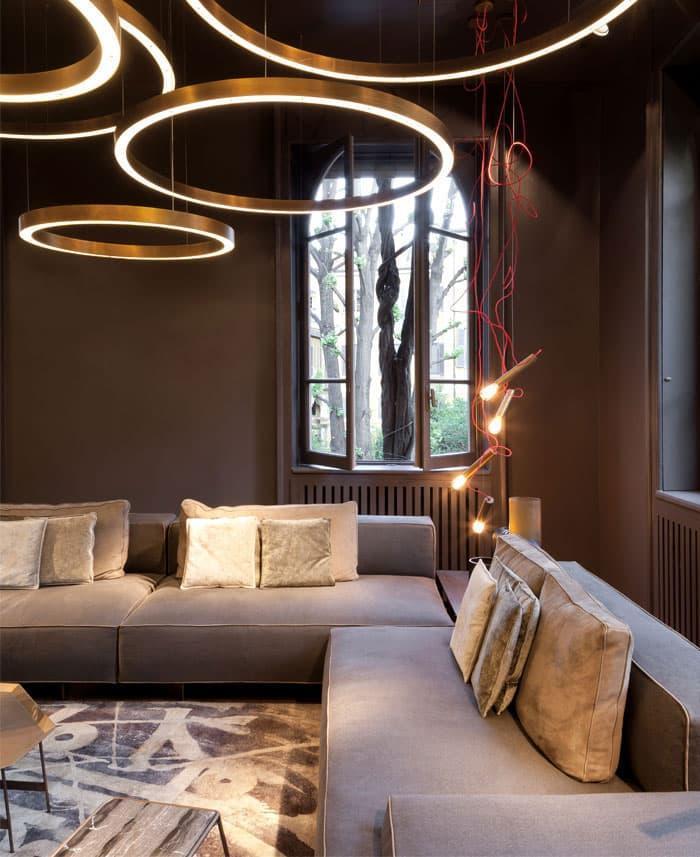 Художественные светильники длля гостиной 5