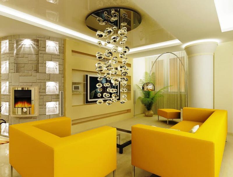 Светильники в интерьер гостиной 2
