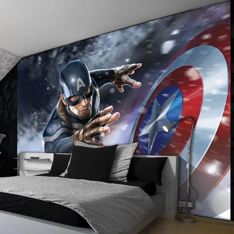 Фотообои в интерьере спальни 9