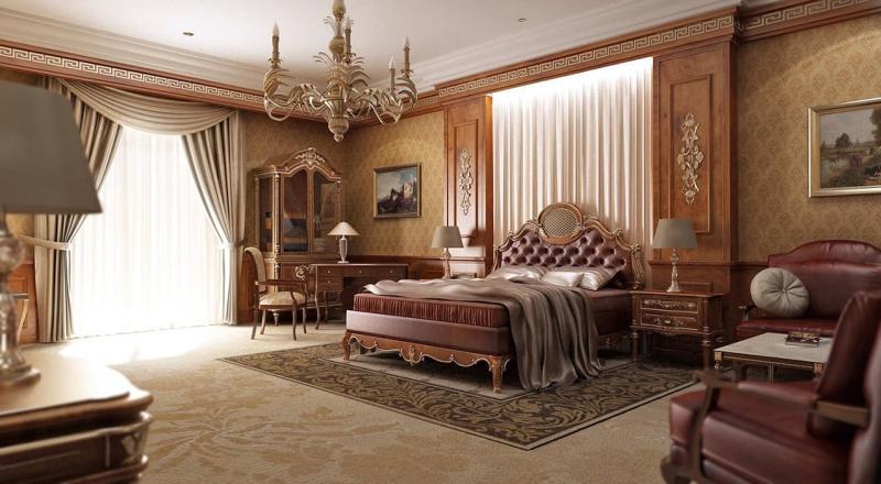 Обои для спальни в классическом стиле 1