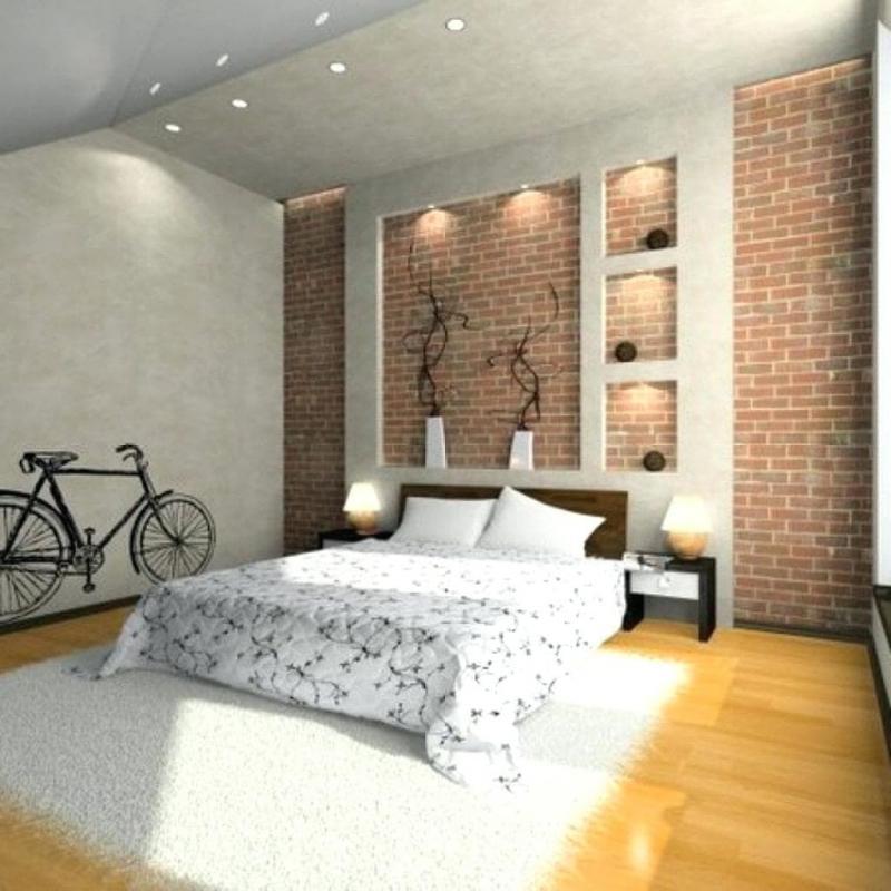 Обои для спальни в стиле лофт 1