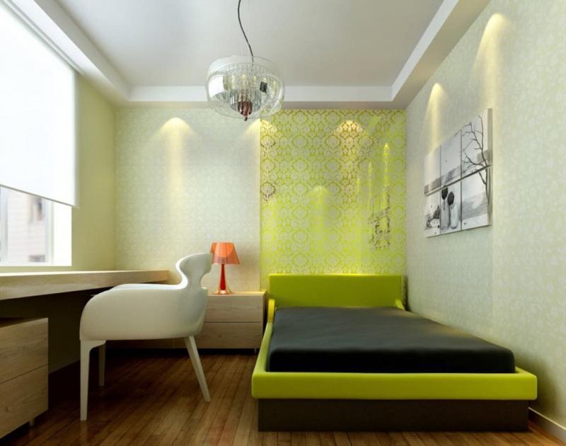Обои для спальни в стиле минимализм 1