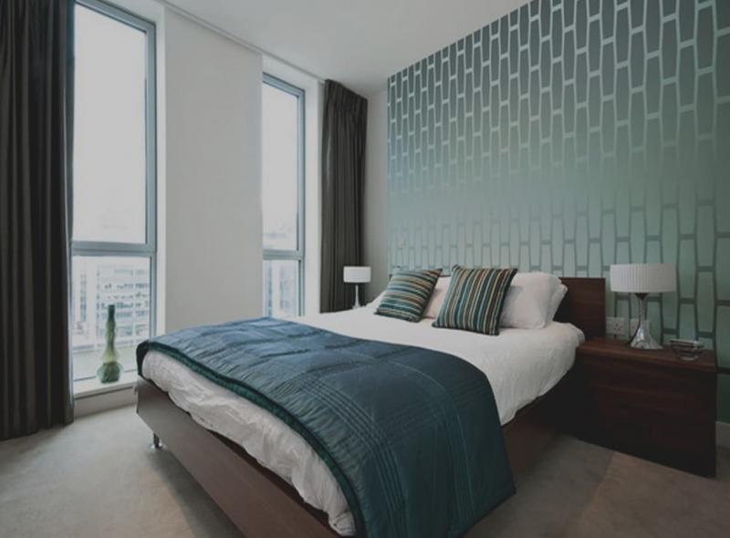 Обои для спальни в стиле минимализм 2