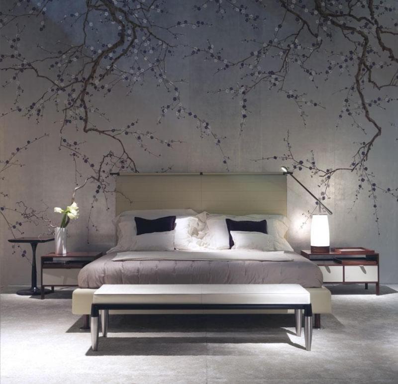 Обои для спальни в японском стиле 3
