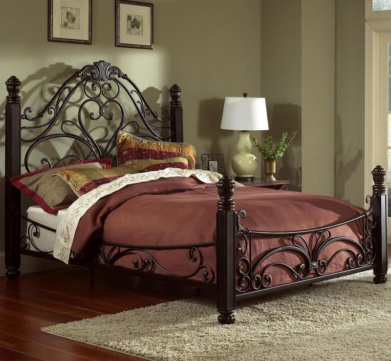 Кованная кровать в интерьере 3