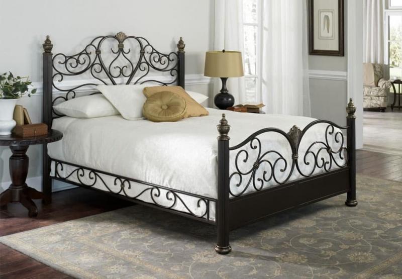 Кованная кровать в интерьере 4