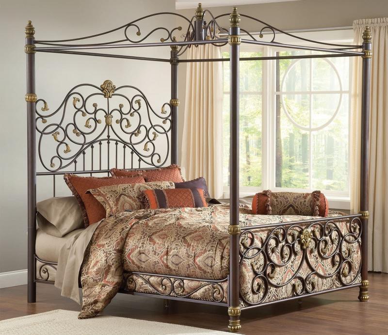 Кованная кровать в интерьере 9
