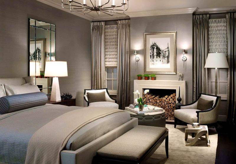 Монохромный интерьере спальни 1