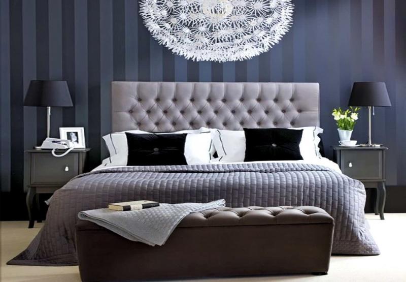 Монохромный интерьере спальни 2