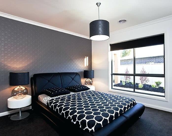 Монохромный интерьере спальни 3