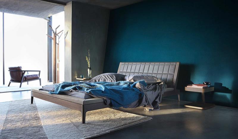 Монохромный интерьере спальни 5