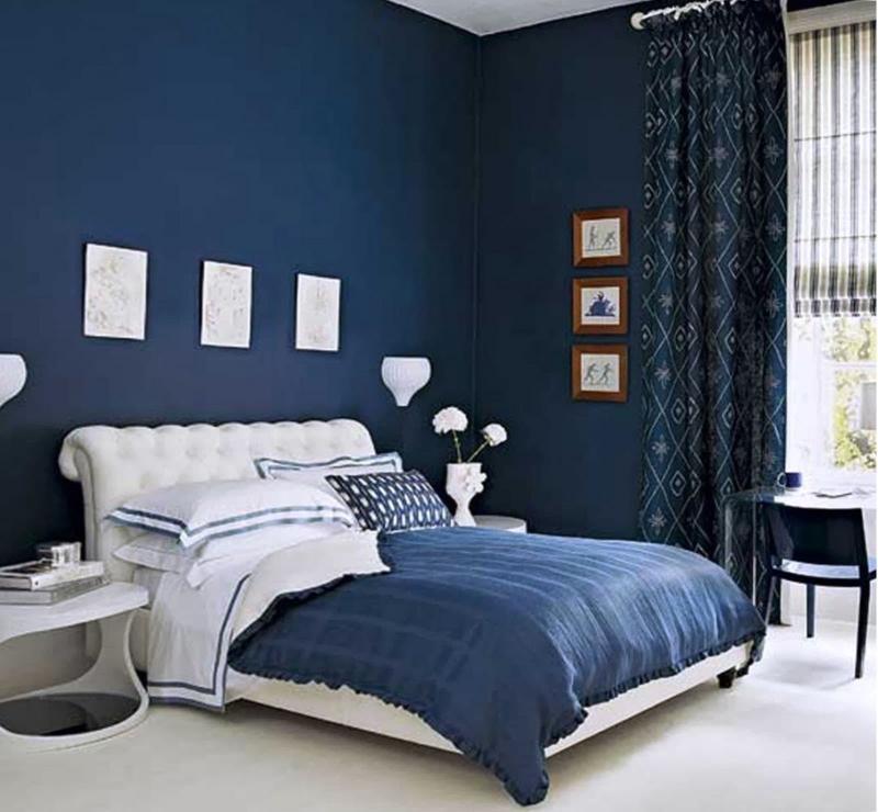 Монохромный интерьере спальни 7