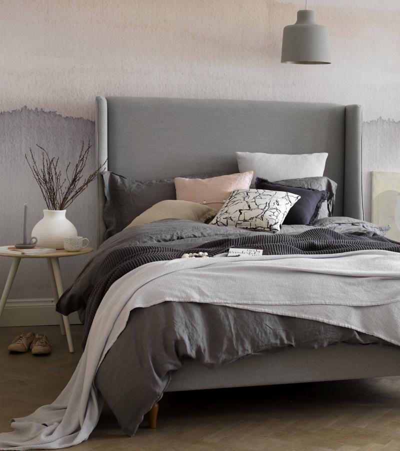 Омбре в интерьере спальни 1
