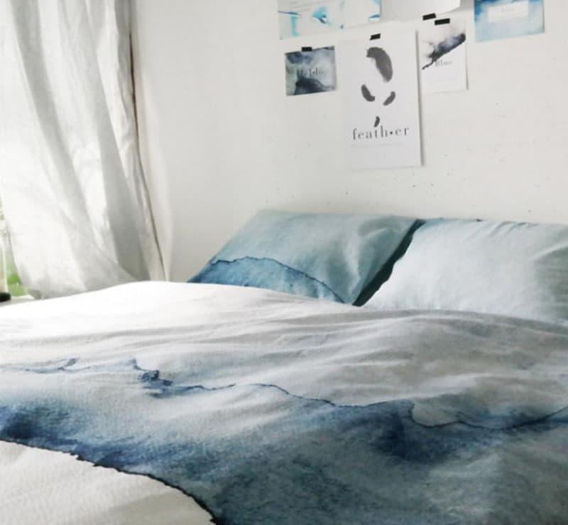 Омбре в интерьере спальни 4
