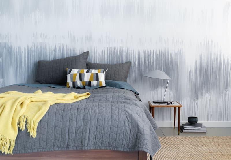 Омбре в интерьере спальни 6