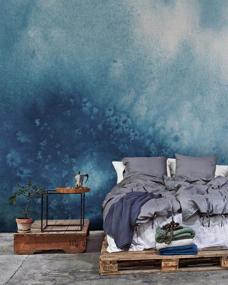 Омбре в интерьере спальни 9