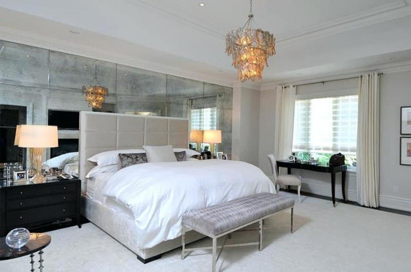 Оптические иллюзии в интерьере спальни 3