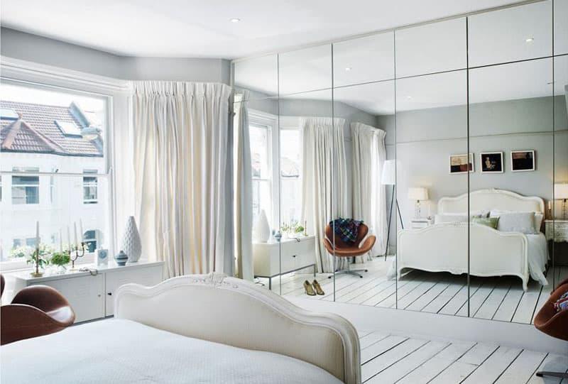 Оптические иллюзии в интерьере спальни 5