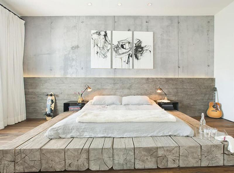 Спальня 2018 в стиле лофт 3