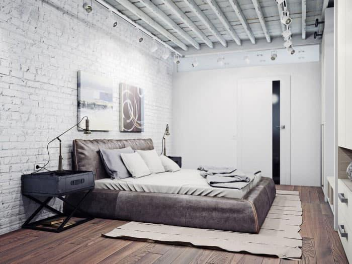 Спальня 2018 в стиле лофт 6
