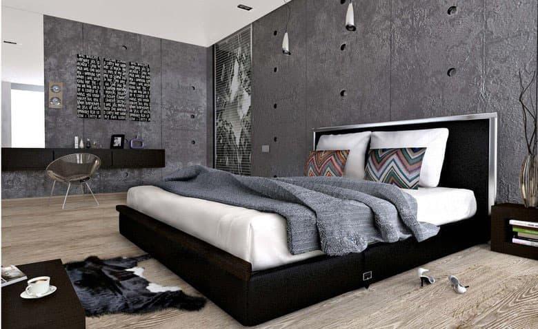 Спальня 2018 в стиле лофт 7