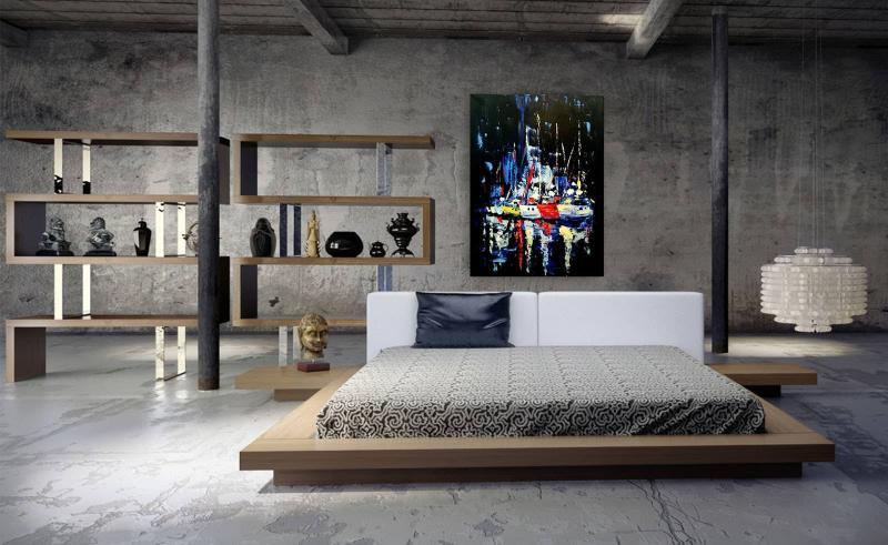 Спальня 2018 в стиле лофт 9