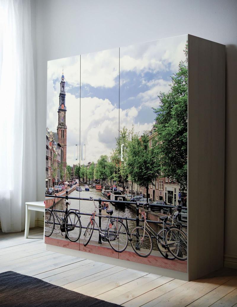 Встроенные шкаф с арт-фасадами 4