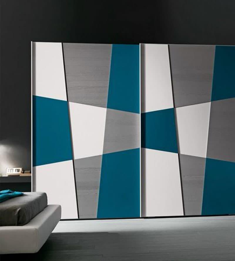 Встроенные шкаф с арт-фасадами 7