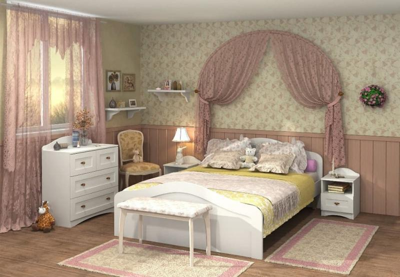 Кровать для спальни в стиле прованс 4