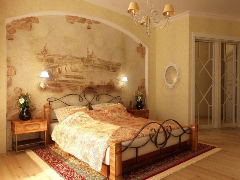 Кровать для спальни в стиле прованс 7