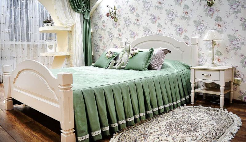 Кровать для спальни в стиле прованс 8